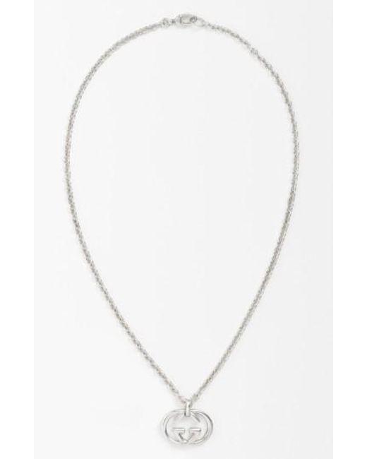 Gucci | Metallic 'silver Britt' Necklace for Men | Lyst