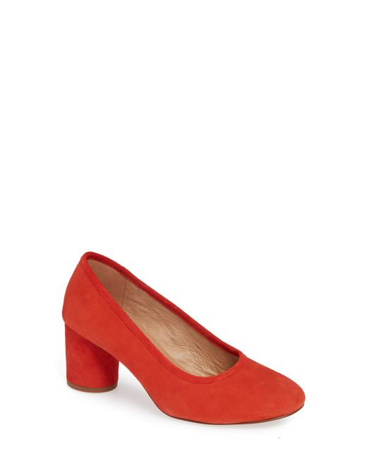 Madewell - Red The Reid Pump - Lyst