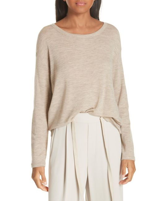 Vince - Natural Relaxed Wool Knit Top - Lyst