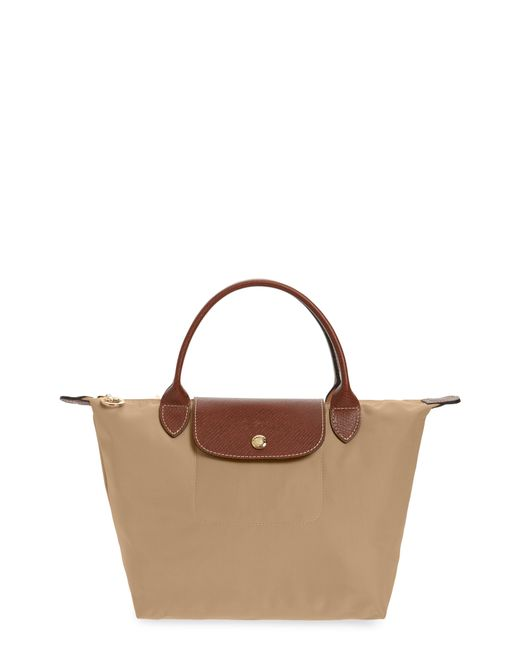 Longchamp - Natural Small Le Pliage Top Handle Bag - Lyst