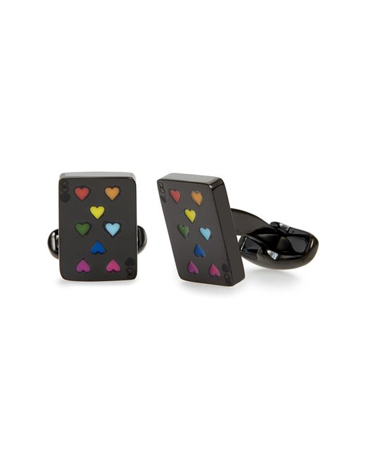 Paul Smith - Black Multicolor Hearts Playing Card Cuff Links for Men - Lyst