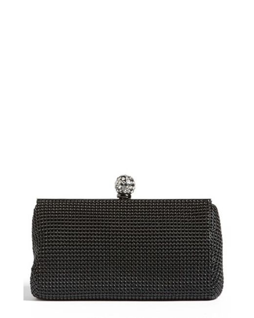Whiting & Davis | Black 'crystal' Mesh Clutch | Lyst
