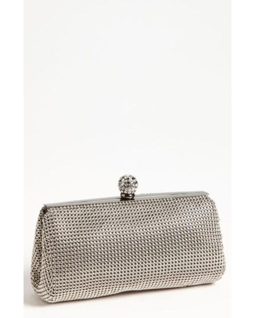 Whiting & Davis | Metallic 'crystal' Mesh Clutch | Lyst