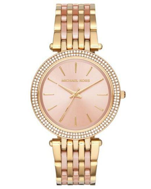 Michael Kors | Metallic 'darci' Round Bracelet Watch | Lyst