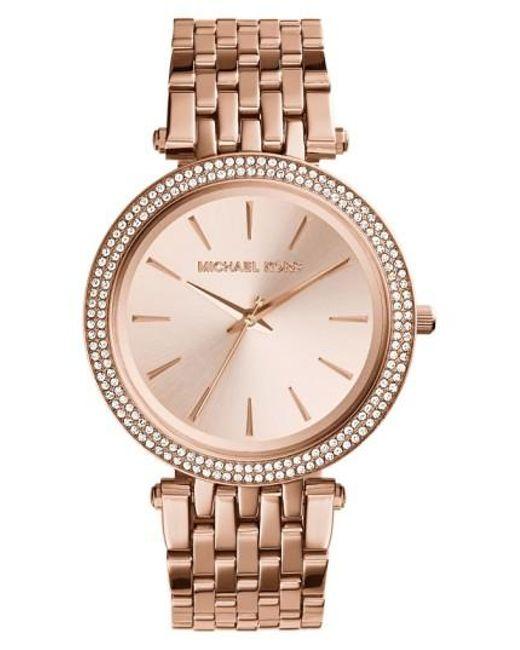 Michael Kors   Metallic 'darci' Round Bracelet Watch   Lyst