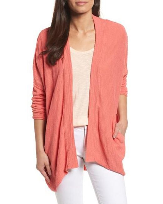 Caslon - Pink Caslon Drop Shoulder Cardigan - Lyst