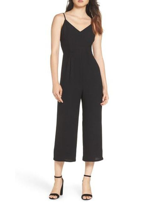 19 Cooper - Black Adjustable Strap Jumpsuit - Lyst