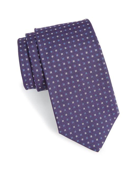 Gitman Brothers Vintage Purple Geometric Silk Tie for men