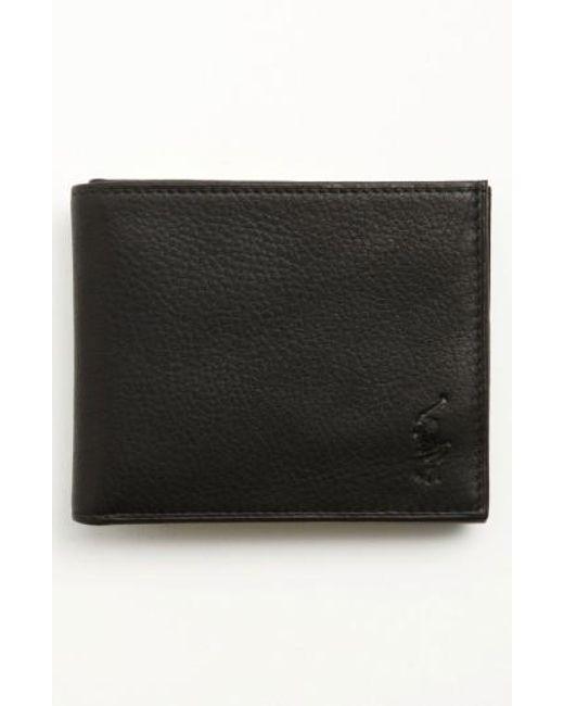 Polo Ralph Lauren | Black Bifold Leather Wallet for Men | Lyst