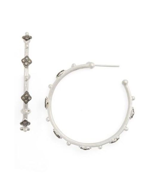 Armenta | Metallic New World Cravelli Diamond Hoop Earrings | Lyst