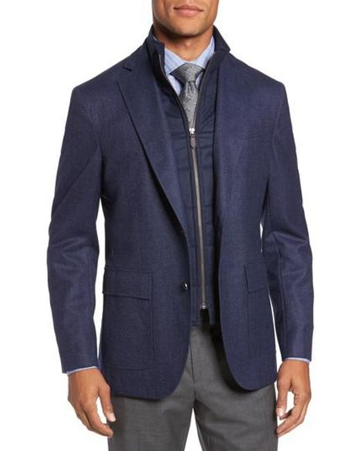 David Donahue | Blue Aaron Classic Fit Wool Blazer for Men | Lyst