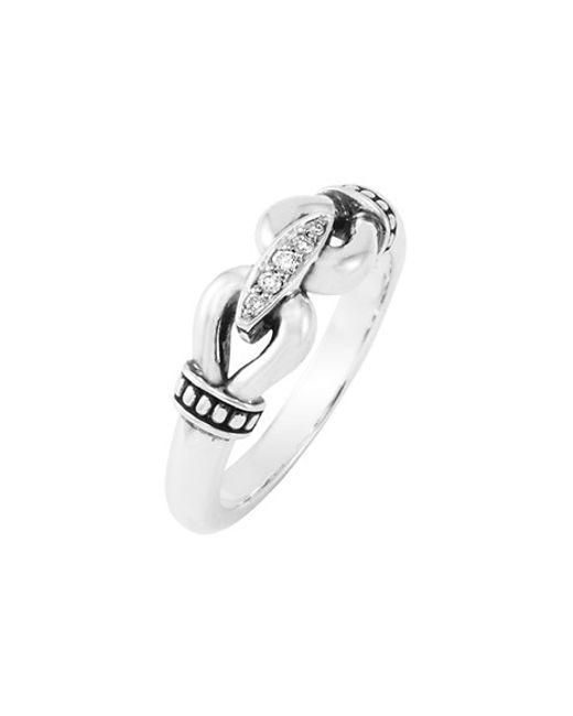 Lagos   Metallic 'derby' Small Diamond Ring   Lyst