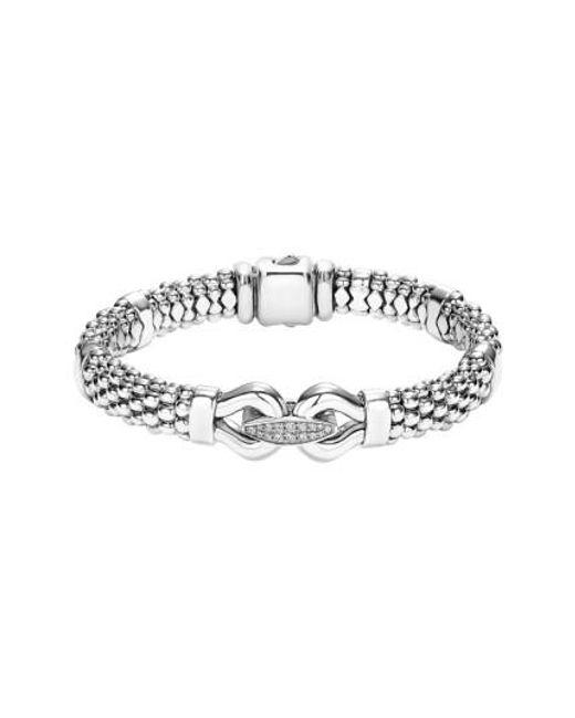 Lagos | Metallic 'derby' Diamond Buckle Rope Bracelet | Lyst