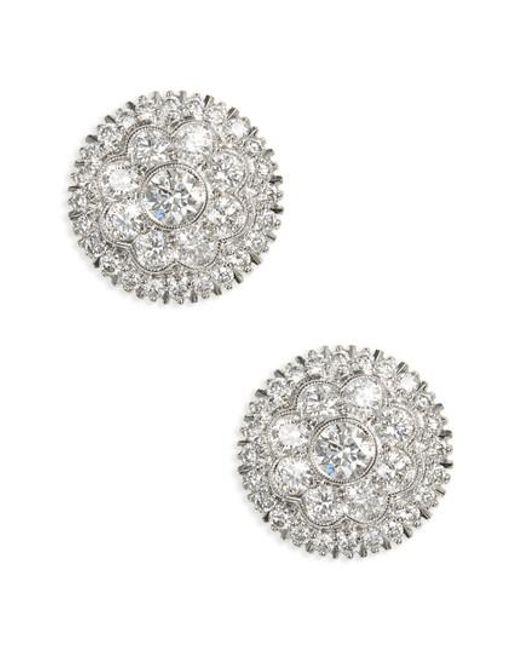 Kwiat - Metallic Diamond Stud Earrings - Lyst