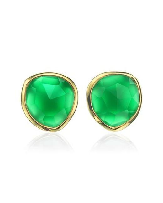 Monica Vinader | Metallic 'siren' Semiprecious Stone Stud Earrings (nordstrom Exclusive) | Lyst