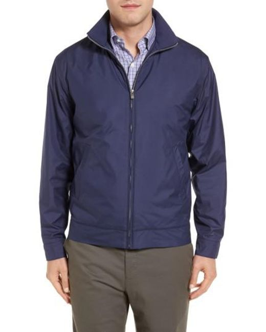 Peter Millar - Blue Zip Jacket for Men - Lyst