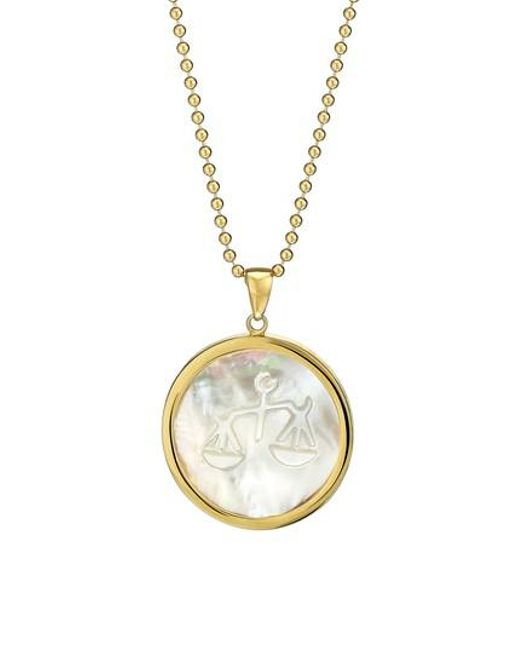 Asha | Metallic Zodiac Mother-of-pearl Pendant Necklace | Lyst