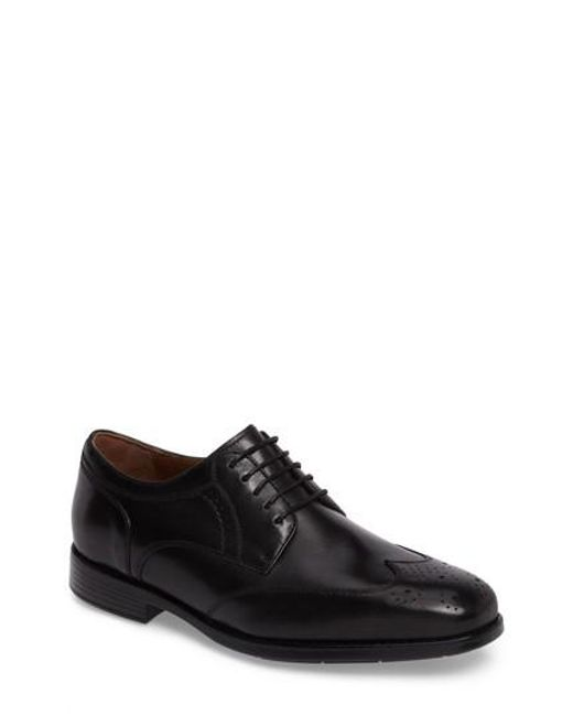 Johnston & Murphy | Black Branning Wingtip for Men | Lyst