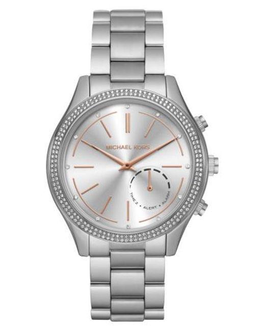 Michael Kors   Metallic Michael Kors Runway Access Smart Bracelet Watch   Lyst