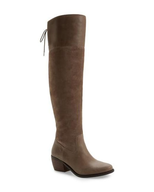 Lucky Brand | Brown Komah Over The Knee Boot | Lyst