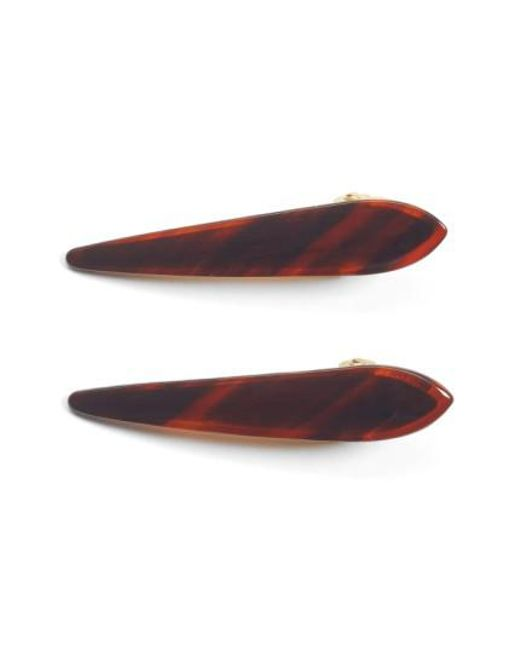 Ficcare | Brown 'mini Maximas' Hair Clips | Lyst