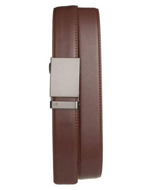 Mission Belt   Brown 'gun Metal' Leather Belt for Men   Lyst