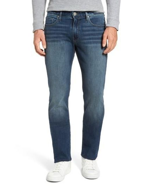 PAIGE | Blue Legacy - Normandie Straight Leg Jeans for Men | Lyst