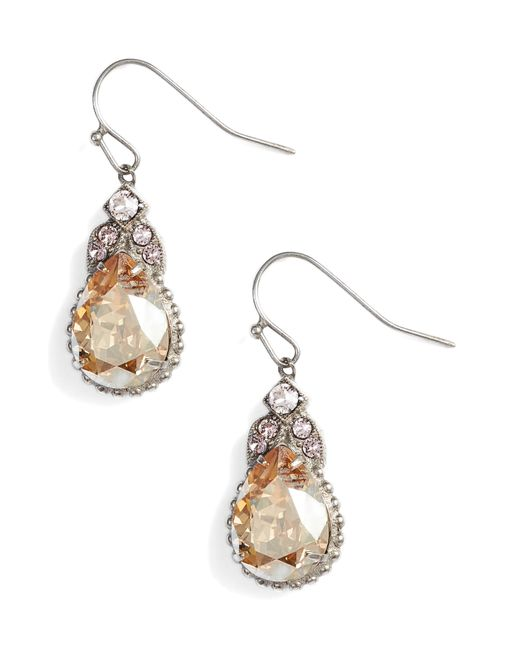 Sorrelli - Pink Decorative Deco Crystal Drop Earrings - Lyst