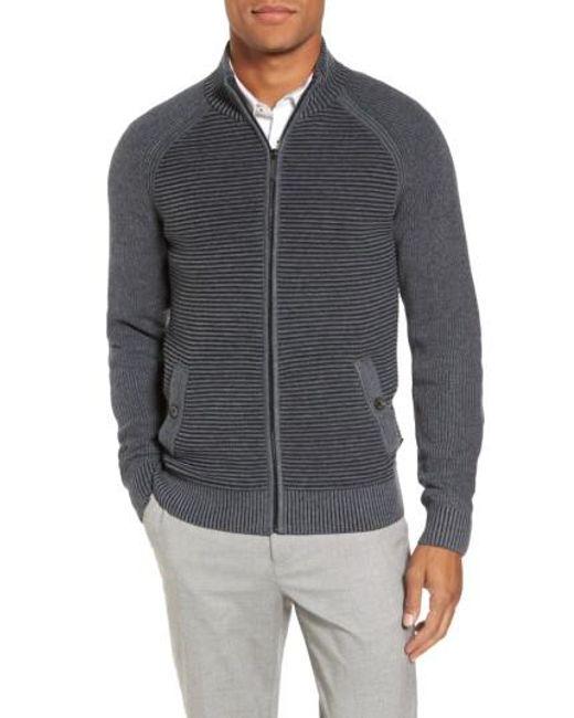 Ted Baker   Gray Modern Slim Fit Raglan Sweater for Men   Lyst
