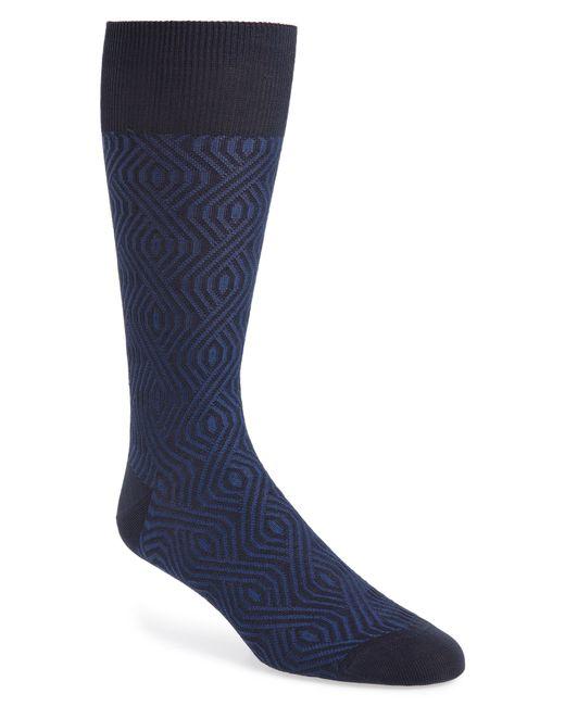 Calibrate - Blue Geometric Socks for Men - Lyst