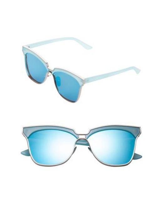 SUNNYSIDE LA | Blue 61mm Angular Sunglasses | Lyst
