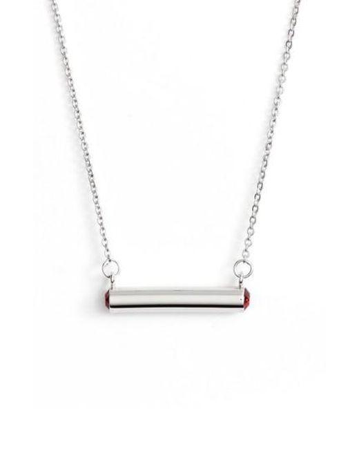Stella Valle | Metallic Stella Vale January Crystal Bar Pendant Necklace | Lyst