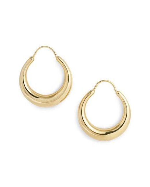 Gold Vermeil Fat Snake earrings - Metallic All_Blues F8EvOGDVu
