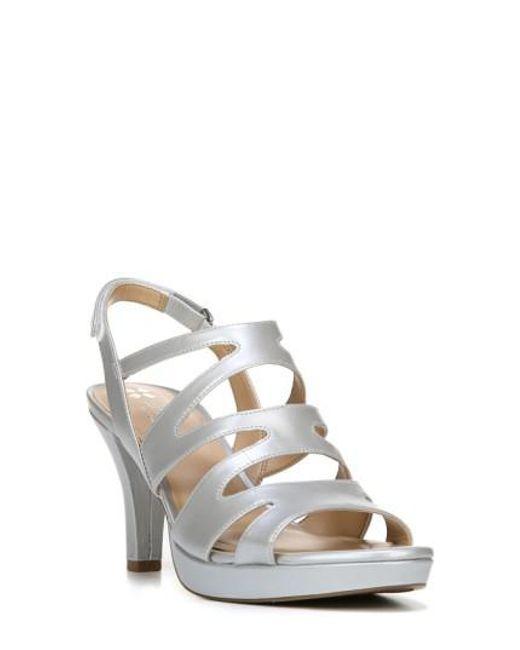 Naturalizer | Metallic 'pressley' Slingback Platform Sandal | Lyst