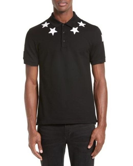 Givenchy | Black Star 74 Cuban Fit Polo for Men | Lyst