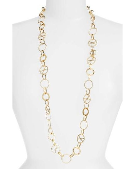 Karine Sultan - Metallic Long Link Necklace - Lyst