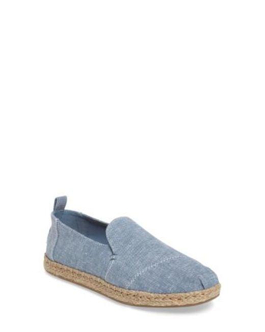 TOMS - Blue Espadrille Slip-on - Lyst