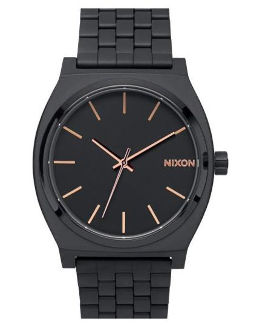 Nixon | Black 'the Time Teller' Bracelet Watch | Lyst