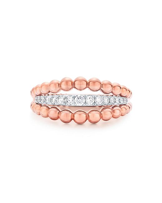 Kwiat - Pink Beaded Diamond Ring - Lyst