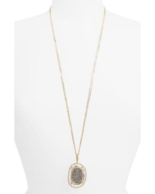 Melinda Maria | Metallic Barrie Long Pendant Necklace | Lyst