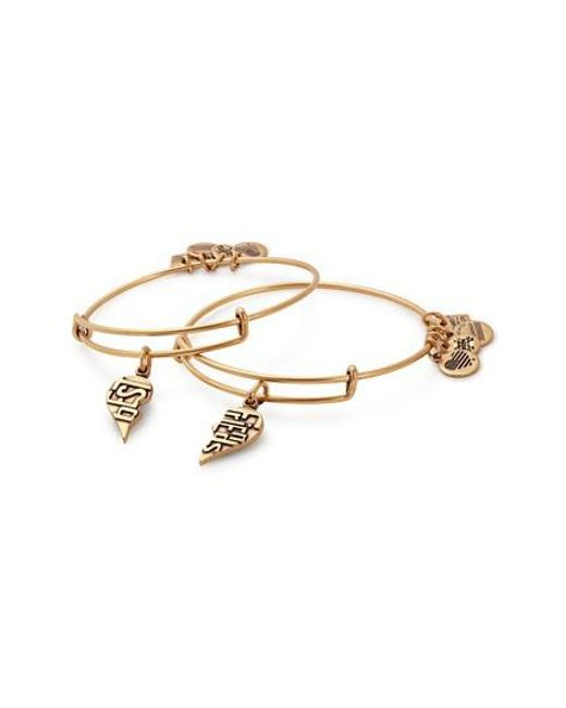 ALEX AND ANI - Metallic Charity By Design - Best Friends Set Of 2 Charm Adjustable Bangles - Lyst