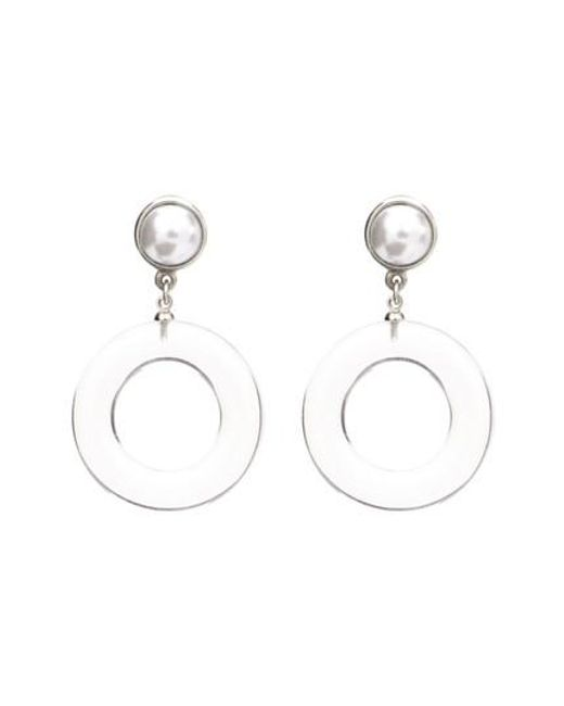 Ben-Amun - Metallic Imitation Pearl Clip Earrings - Lyst