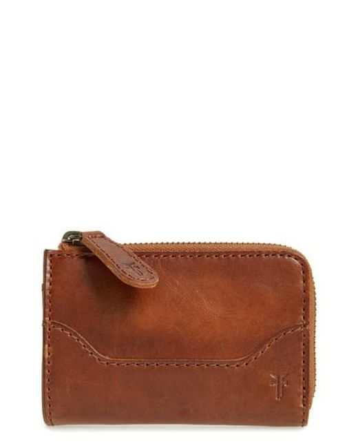 Frye | Brown Small Melissa Leather Zip Wallet | Lyst
