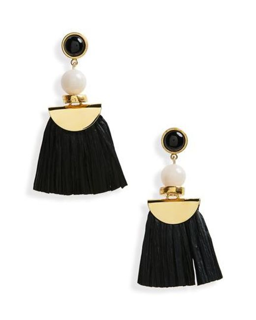 Lizzie Fortunato | Black Hula Earrings | Lyst