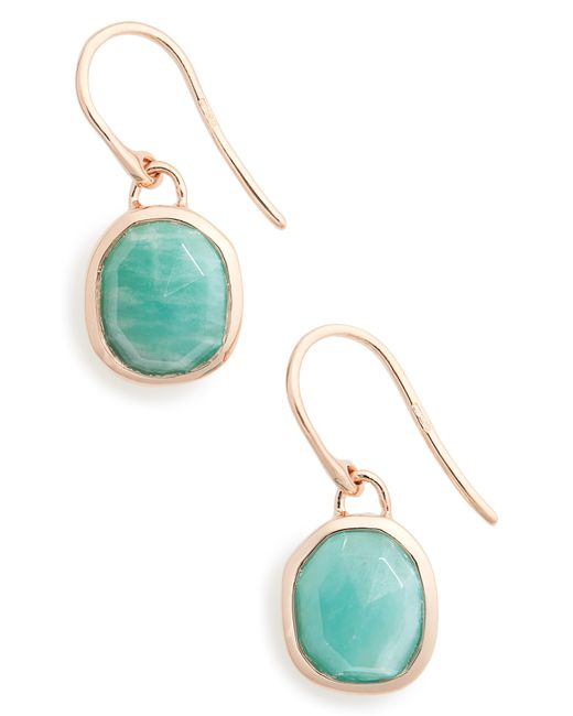 Monica Vinader - Blue Siren Semiprecious Stone Drop Earrings - Lyst