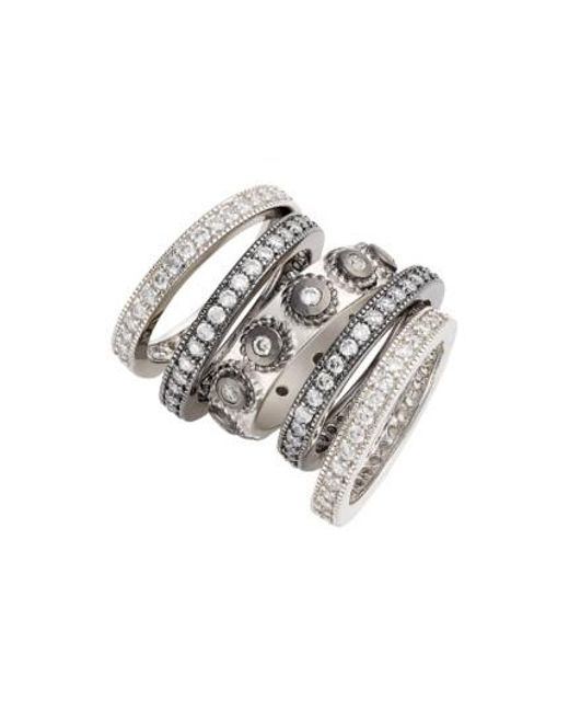 Lyst - Freida rothman \'contemporary Deco\' Stacking Rings (set Of 5 ...