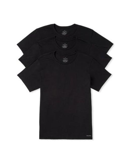 Calvin Klein   3-pack Cotton T-shirt, Black for Men   Lyst