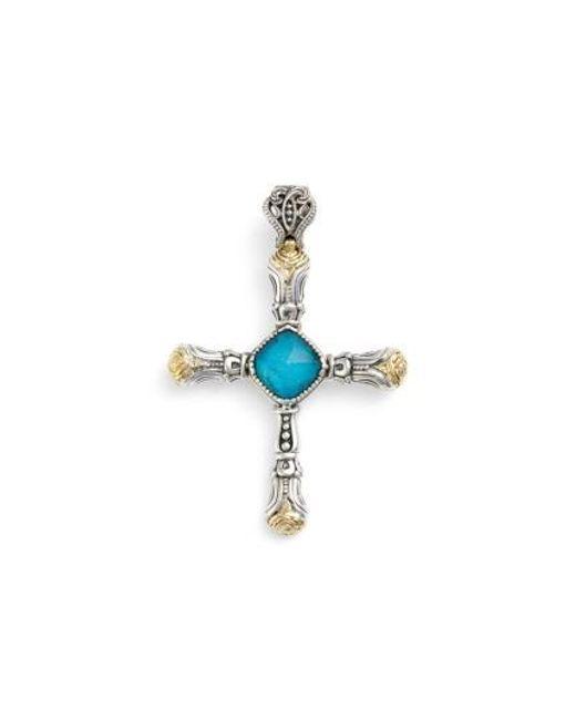 Konstantino | Metallic 'iliada' Doublet Cross Pendant | Lyst
