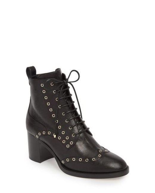 Jimmy choo Hanah Studded Oxford Boots QgF2cz