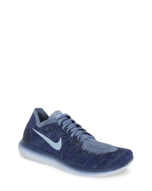 Nike | Blue Free Run Flyknit 2017 Running Shoe for Men | Lyst